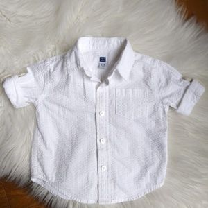 JANIE and JACK button down shirt 3/6 Months